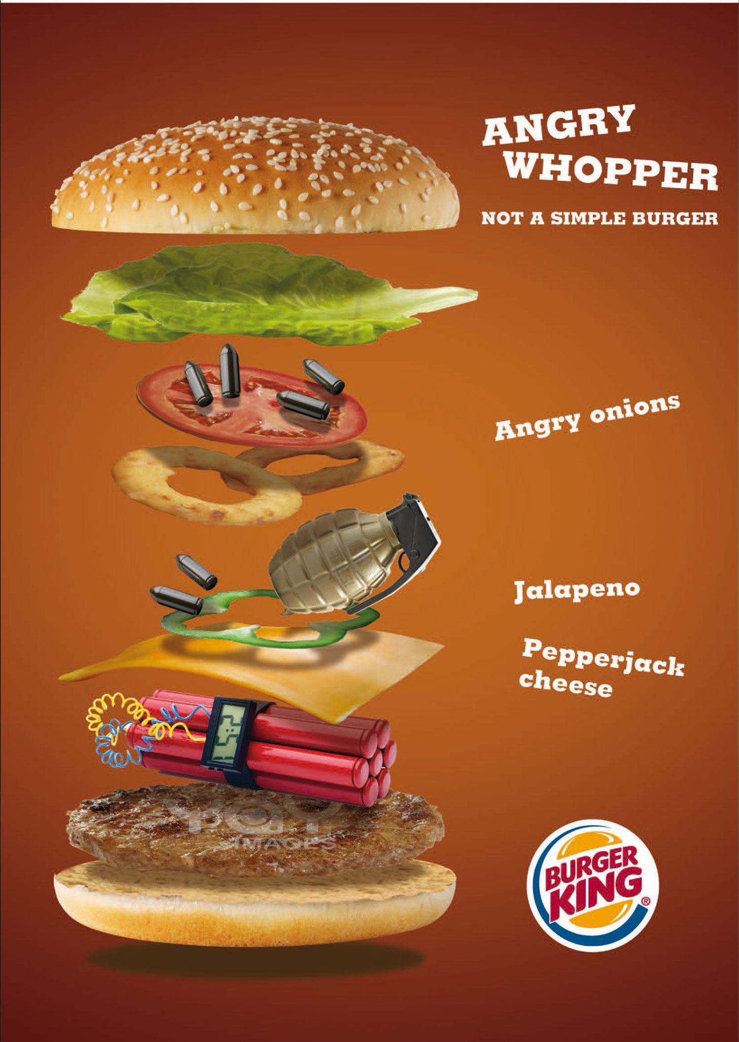Burger King   Creatività per la campagna pubblicitaria