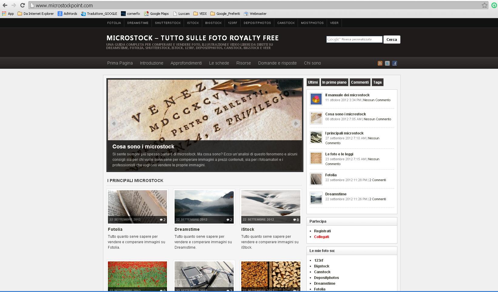 Sito web – Microstock