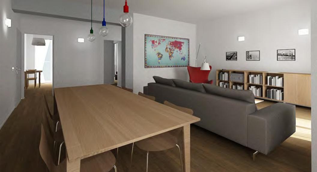 Rendering 3D fotorealistici di Interni interior designi